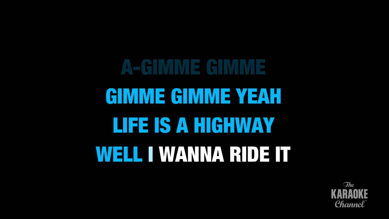 Uncategorized Life Is A Highway Lyrics life is a highway in the style of rascal flatts karaoke lyrics no lead vocal youtube