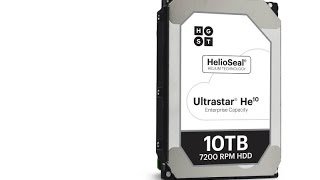 wd announces 10tb helium filled hgst ultrastar he10 hard drive