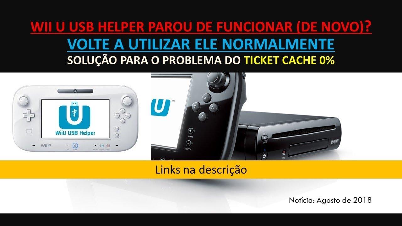 Tutorial Wii U USB Helper: Solução para o problema do Ticket