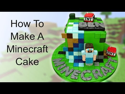 How To Make A Minecraft Themed Cake - Part 2