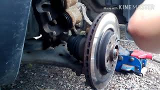 замена тормозных передних дисков ssang yong action new 2012 года
