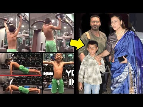 Ajay Devgan & Kajol's Son Yug's Unbelievable SHOCKING Gym Workout For Fitness Challenge India