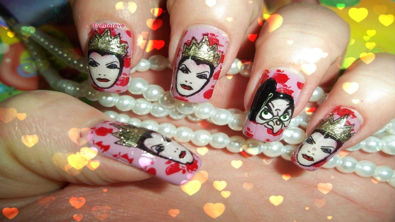 Tuto Nail Art Blanche Neige Snow White Plaque Loja Bbf 28 Disney