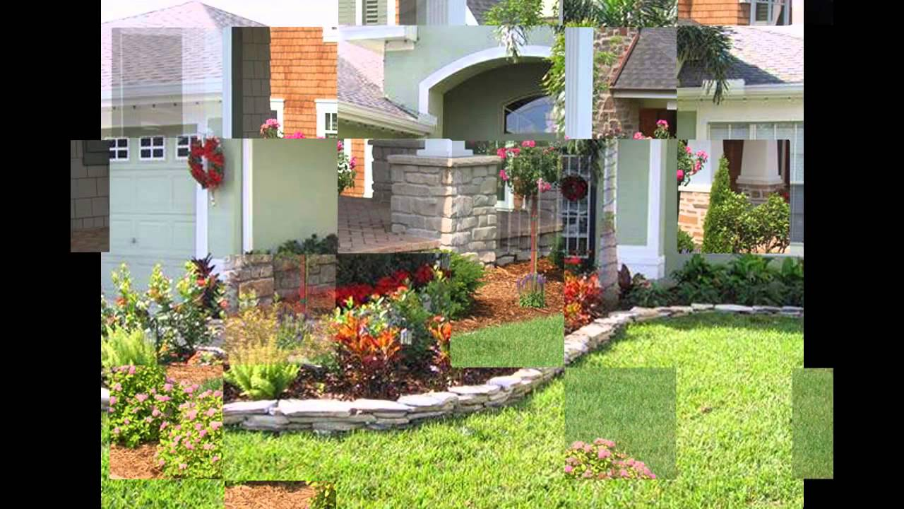 Home landscape ideas for small front yard youtube for Small front of house landscaping