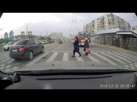 Новороссийск. Нарушение ПДД 2018-03-20_09:09:46 пр.Дзержинского (южный рынок)
