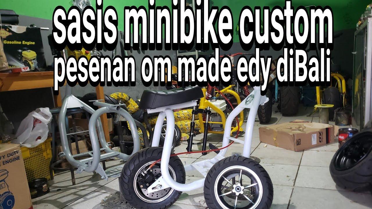 pembuatan  sasis minibike custom r8