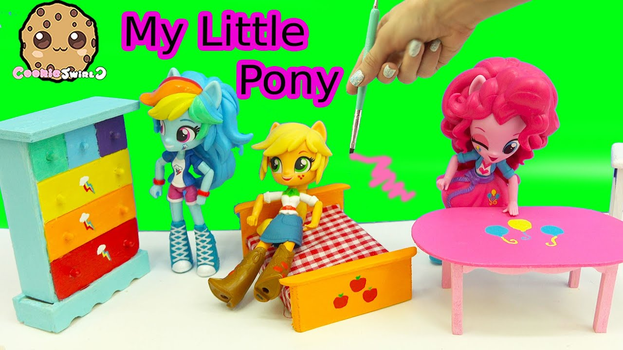 Perfect Dollar Tree Doll House Furniture My Little Pony Inspired Painting Craft  Video