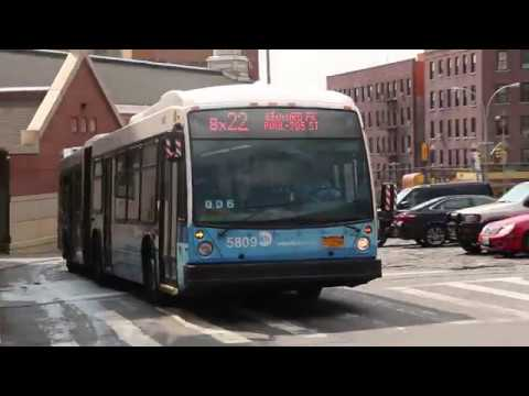 2011 Novabus LFSA #5809 on the Bx22 at Kingsbridge Road and Grand Concourse