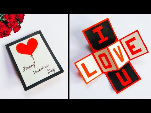 DIY valentine's day pop up card   twist pop up card for valentine's day   easy valentines day card