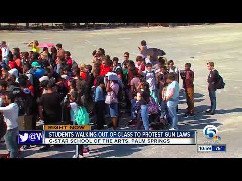 School walkout held at G-Star School of the Arts