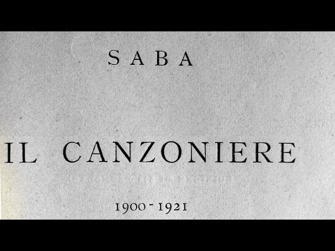 Umberto Saba - Il canzoniere - 1921