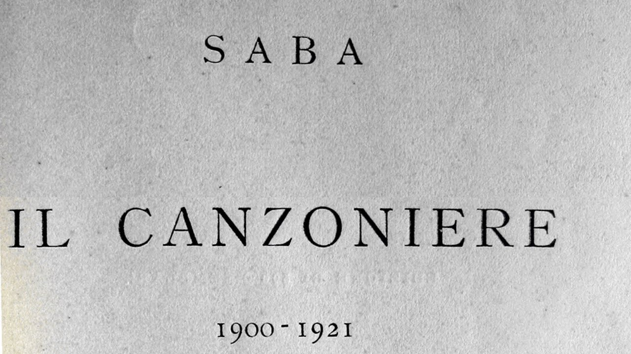 saba canzoniere  Umberto Saba - Il canzoniere - 1921 - YouTube