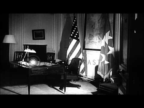Opening of Atlantic treaty head quarters and General Ike