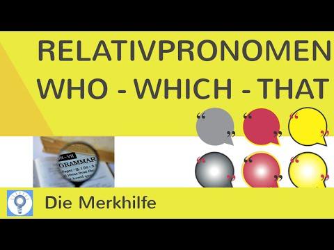 Relativpronomen: who - which - that - Was ist der Unterschied ...