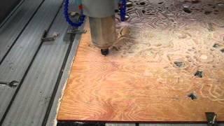 Cnc Cutting Router Machine Cut On Plywood,wood,mdf,pvc,abs Rf-1325-4.5kw