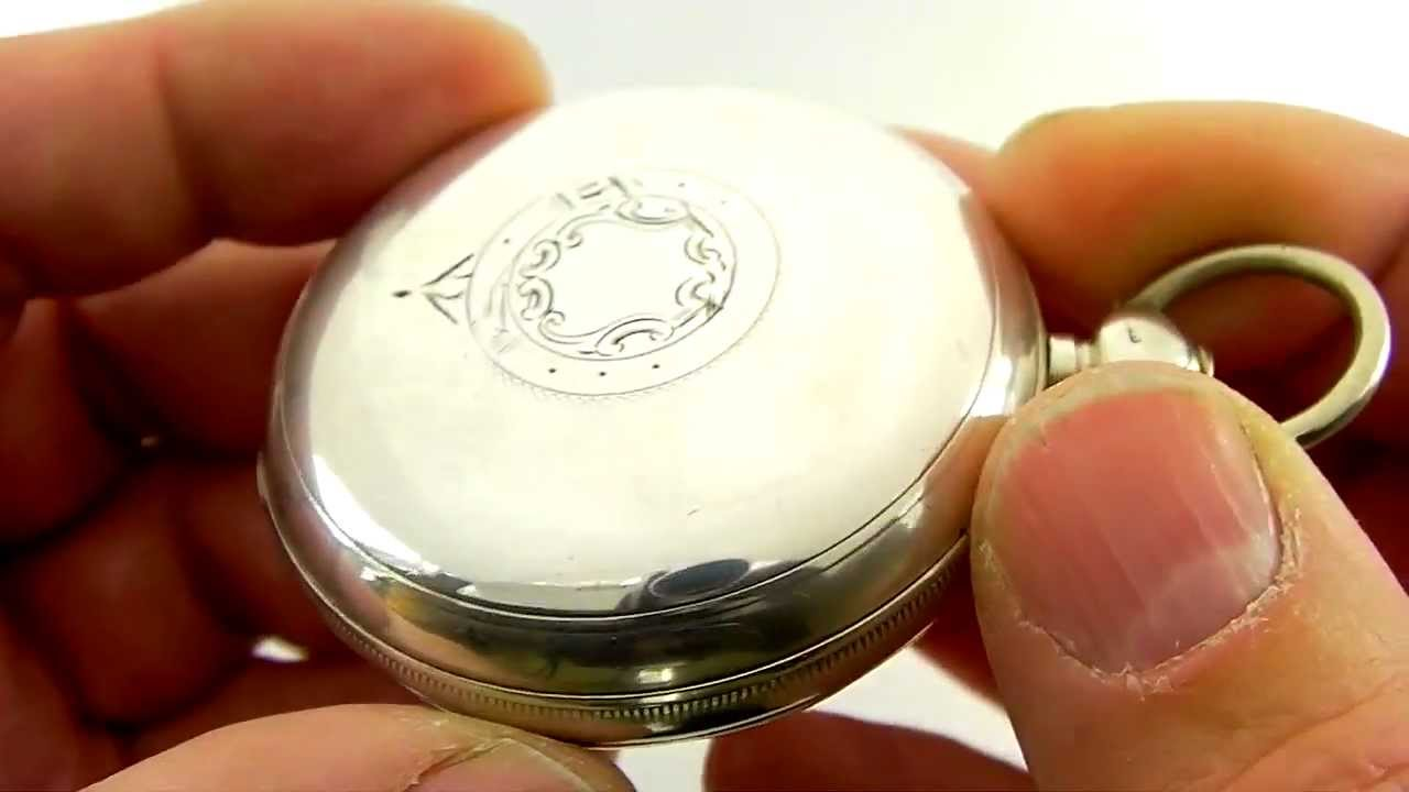 Antique Victorian Waltham Sterling Silver Pocket Watch 1885 Youtube