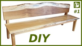 DIY Möbel selber bauen | XXL Sitzbank aus Massivholz | Teil 1