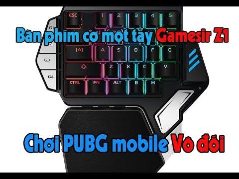 Bàn phím cơ một tay Gamesir Z1 – Phím cơ kèm battledock chơi PUBG mobile, ROS, CF Mobile…