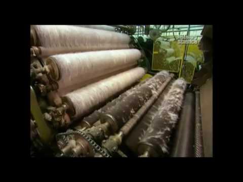 Как делается шерстяная ткань.