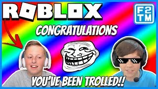 Getting Trolled by F2TM - Roblox Vehicle Simulator Collab with Fraser2TheMax