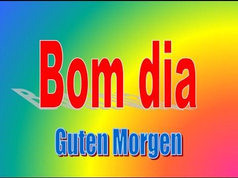 Portugiesisch Deutsch Allgemeine Wörter Touristen Urlaub Alemão Português