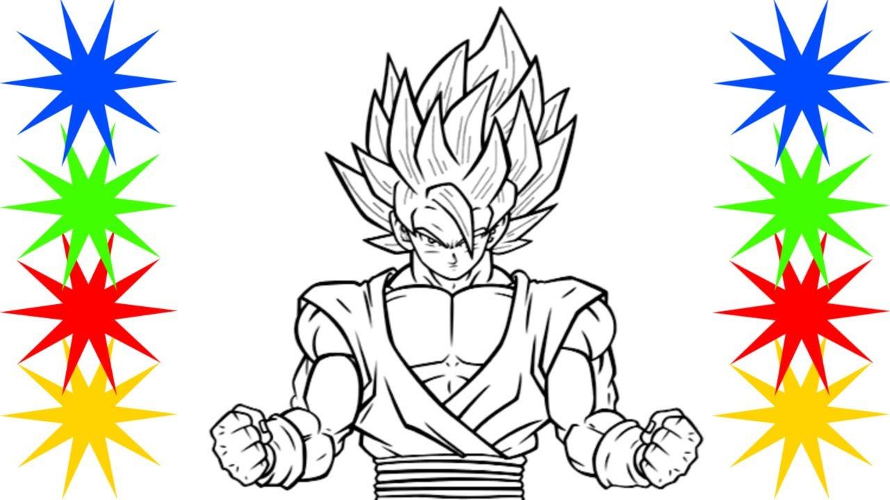 Pintar Desenho Goku Dragon Ball Z Dragon Ball Z Em Portugues