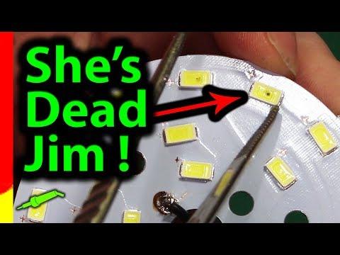 🔴 #592 LED Ceiling Light Repair - How To Repair A Broken LED Downlight