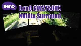 benQ GW2760HS Unboxing and Surround Setup