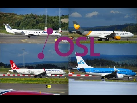 Various Airlines - Airbus, Boeing + Embraer Aircraft - Spotting at Oslo Gardermoen Int'l