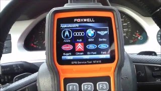 Electronic Parking Brake (EPB) Servicing on an Audi A6 with a Foxwell NT415 Tool