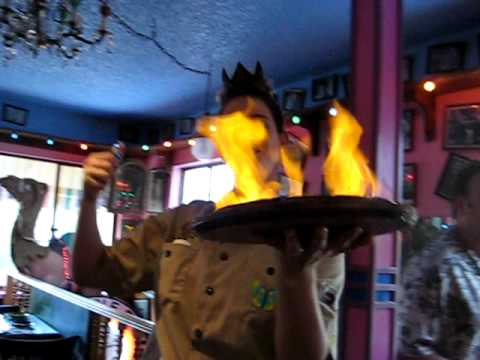 FLAMING CHEESE AT THE BUBBLE ROOM