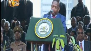 Governor Mike Sonko's speech during the swearing in ceremony