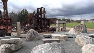 "The Yankee Siege Catapult  ""trebuchet"" - Greenfield Nh"