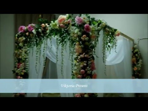 Как прикрепить цветы к свадебной арке