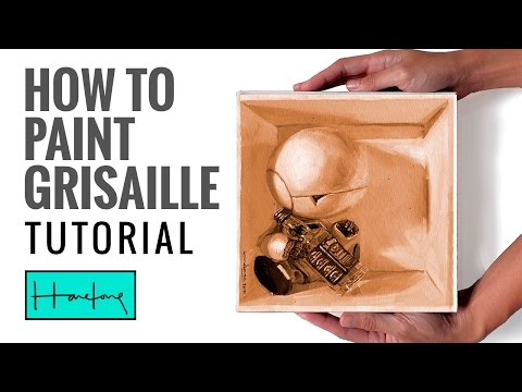 Oil painting tutorial : How to paint grisaille tonal value underpainting