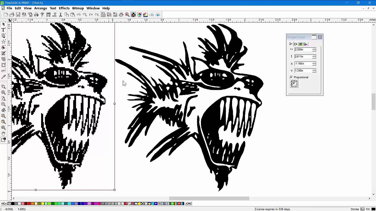 How To Vectorize In Flexisign Software And Convert Bitmap Graphics To Vector Artwork Youtube