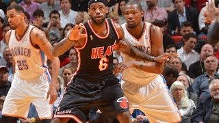 Kevin Durant and LeBron James Combine for 14 Points in 2 Minutes
