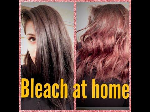 Bleach wash your hair / shampoo cap and OLAPLEX