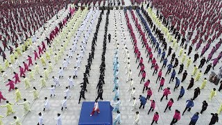 500,000 people perform 'Five Animals' in east China