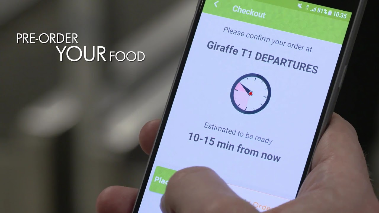 Grab App Pre Order Food Drink Manchester Airport
