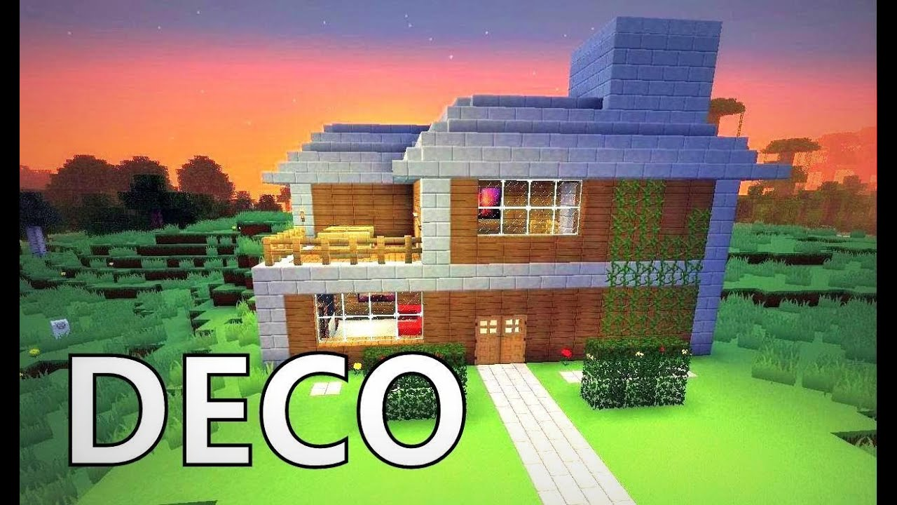 Minecraft comment cr er une belle maison youtube for Decoration maison minecraft