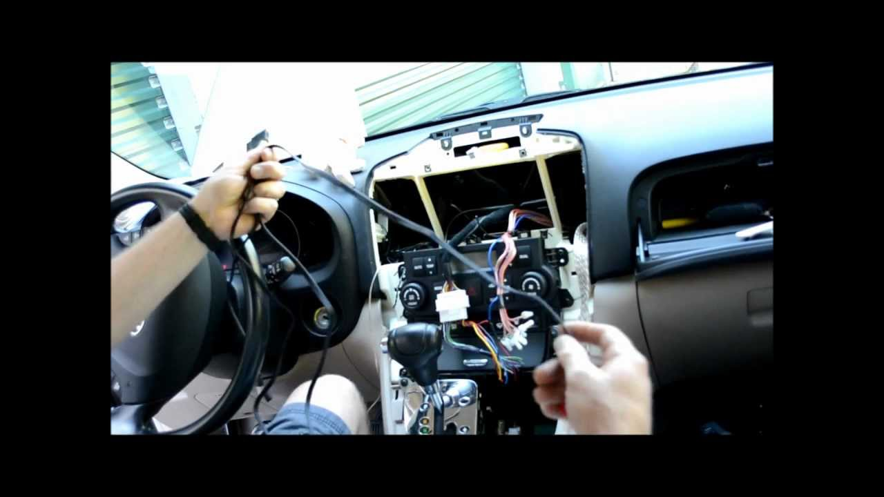 hight resolution of car stereo install swap upgrade on 2007 hyundai entourgage minivan youtube