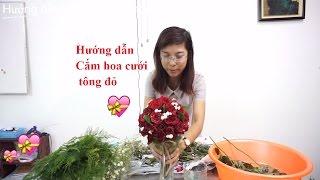 Hướng dẫn chi tiết cắm hoa cưới tông hồng đỏ từ A-Z - Cách cắm hoa đẹp thumbnail