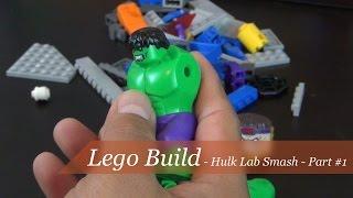 Lego Build - Super Heroes Hulk Lab Smash Set #76018 - Part 1