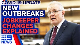 Coronavirus: Victoria & NSW cases update, JobKeeper changes | 9 News Australia