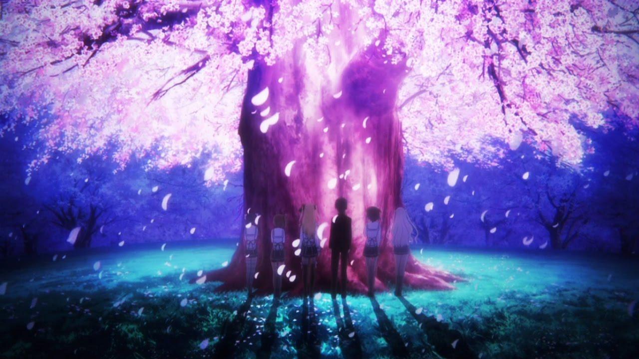 Anime Backgrounds Scenery Youtube Night Flowers Anime Background Rainy Night