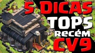 5 DICAS TOPS PARA CV9 (Recém/avançados) - Clash of Clans