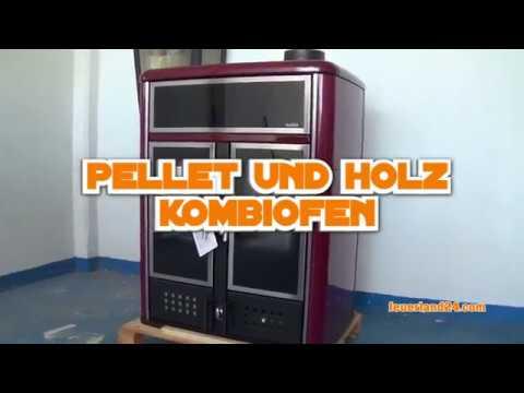 pelletofen und holzofen in einem dual bordeaux 2018 von feuerland24 youtube. Black Bedroom Furniture Sets. Home Design Ideas