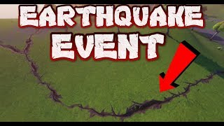 FORTNITE - EARTHQUAKE EVENT CRACKING OPEN MAP - COUNTDOWN AND LOCATIONS - 14TH CRACK HAPPENING NOW thumbnail