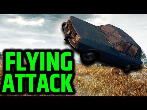 PUBG - Huge Car Jump Surprise Attack!